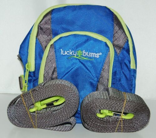 Lucky Buns 101BL Ski Trainer Color Blue Handle Leash Backpack