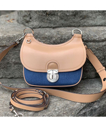 Tory Burch James Small Denim Saddlebag - $440.00