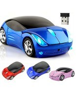 Wireless Mouse Computer Mice Fashion Super Car Shaped Game PC 2.4Ghz Opt... - ₨567.67 INR