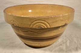 """ANTIQUE STRIPED EMBOSSED 10"""" STONEWARE MIXING BOWL - $34.64"""
