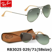 Ray Ban Sunglasses Aviator RB3025 029/71 58mm Matte Gray w/Grey Gradient - $205.75