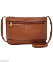 Nwt $98 Fossil Mini Crossbody in Brown Gift Mini leather bag - $53.99