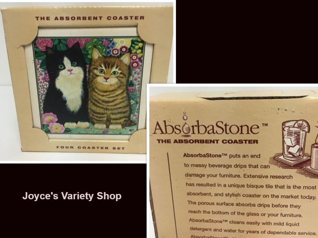 Cat coasters collage