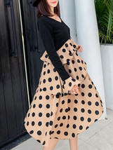 Maternity's Dress V Neck Polka Dots Pattern Patchwork Design Dress image 2