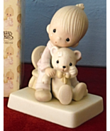 Precious Moment Figurine E-5200 Bear Ye One Another's Burdens with box - $39.95