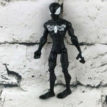 "Marvel Legends Spider-Man 6"" Action Figure Wearing Black Suit Hasbro 2008 - $19.79"