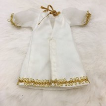 "Vintage Sheer White Doll Robe Gold Ginny Ginger Alexander Muffie 8"" - $11.60"