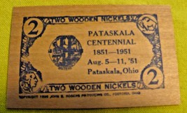 1951 Pataskala, Ohio Centennial Wooden Nickel - $5.50