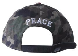 Official Crown of Laurel Peaceful Violence Camo Flowers Strapback Baseball Hat image 4