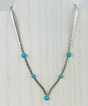 Vintage 1978 Sarah Coventry Summer Skies Silver Tone Faux Turquoise Neck... - $14.72