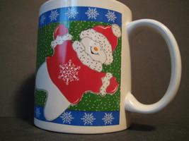 "Vintage Original Holiday Season SNOWMAN Santa COOKIES Coffee Mug 3.75""X3.25"" - $16.75"