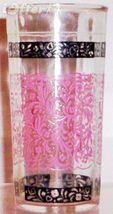 1960'S RETRO HAZEL ATLAS--PINK SCROLL PATTERN - $6.95