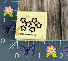 Stampin' Up! Stars Background 2002 Rubber Stamp Wood Mount #M26 - $2.23