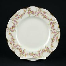 Theodore Haviland Varenne Salad Plate, Vintage Dessert, Pink Roses Gold,... - $12.25