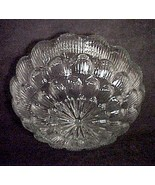 Floral Star Burst Pan Light Shade Clear Glass 6... - $19.95