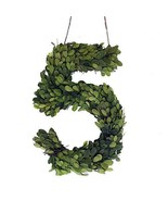 """Modern Home 12"""" Real Preserved Boxwood Monogram Wreath Letters - 5 - $22.52"""
