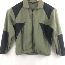 Woolrich Mens  Zip Up Fleece Jacket Sz L Large Zip Up Pockets B209 - $16.80