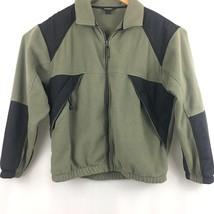 Woolrich Mens  Zip Up Fleece Jacket Sz L Large Zip Up Pockets B209 - $16.80