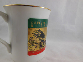 Vintage Starbucks Christmas Blend Made In Japan 10 Oz Gold Trim Coffee Cup Mug - $8.31