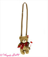 ANGELIC PRETTY Rose Bouquet Letter Bear Plush Doll Pouch Bag Girly Fashion - $208.18