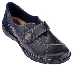 Earth Origins Leather Slip-ons Monk Strap Shoes Evelyn Navy 8.5W NEW A25... - $34.15