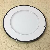 "MIKASA MIDNIGHT PATTERN #L5542 CHOP PLATE 12""  BLACK, WHITE  - $4.95"