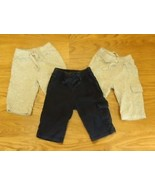 Old Navy 3 Pairs Sweat Pants Boy 0-3M Cotton 17897 - $9.32