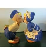Vintage  Kissing Dutch Boy and Girl Ceramic Figurines - $57.00