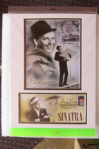 Frank Sinatra USPS stamps, CD, matted picture & Sinatra Treasure book; 2008 - $76.99