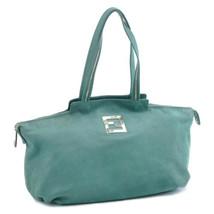 FENDI Leather Tote Bag Green Auth sa1727 - $390.00