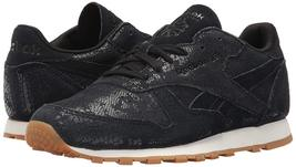 Reebok Women's CL LTHR Clean Exotic Print Track Shoe, image 7