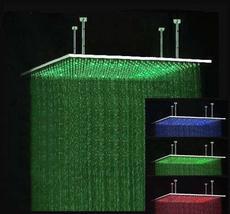 "40"" Rectangular Brushed stainless steel LED Rainfall Large Shower Head B... - $890.95"