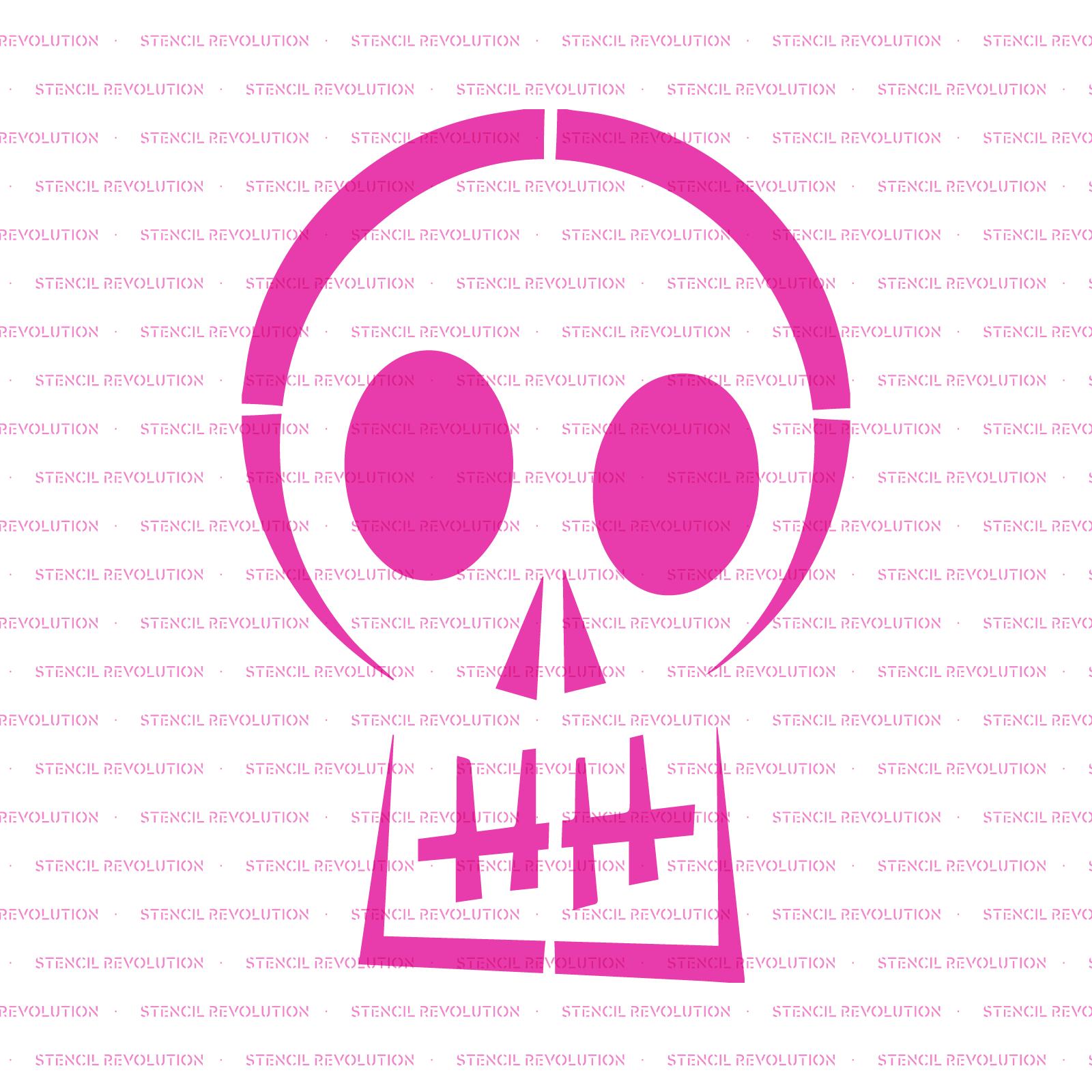 Skull Halloween Stencil - Reusable Stencils of Skull Halloween in Multiple Sizes