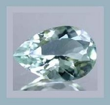 AQUAMARINE 1.26ct Pear Cut 8x5mm Light Blue Faceted Natural Loose Gemstone - $32.99
