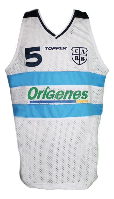 Manu ginobili  5 team argentina custom basketball jersey white   1