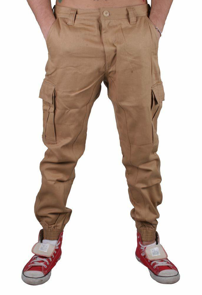 Staple Cachi Cargo Joggers Pantaloni Jeans 1509B2905 Nwt