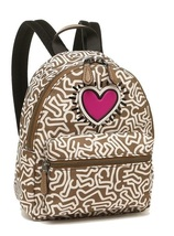 COACH x Keith Haring 11774 ~ Mini Charlie BACKPACK Bag ~ Saddle w/ Heart... - $144.95