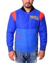 Kanye West Pastelle Rib Knitted Collar Varsity Fleece Jacket - $72.00
