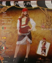 Pretty Pirate Gold Vest Halloween Costume One Size XS-M Top Skirt Headcl... - $34.99