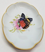 Vtg Monarch Butterfly Chamart Limoges France Tray Candy Nappy Dish Gold ... - $18.13