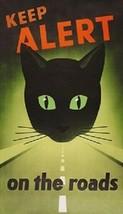 Keep Alert On The Roads Cat Magnet - $6.99