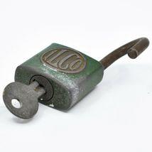 "Vintage ILCO Green 2.5"" Padlock Working Lock & Key image 4"