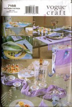 1999 Vogue Pattern 7188 - Vogue Craft Table Linens UNCUT - $12.00