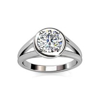 14K White Gold 0.50Ct Round Diamond Four Claw Set Solitaire Engagement Ring - $1,587.60