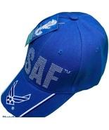 U. S. Air Force USAF Wing on Bill Blue Baseball Hat NEW - £9.07 GBP