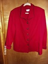 Alfred Dunner - 20W - Red w/Black Trim Blazer - 2 Pockets - Shoulder Pads - $5.99
