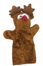 """Greenbrier Moose Hand Puppet Plush Red Nose 11"""" Tall - $19.79"""