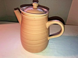 Franciscan Pink Ribbed Pitcher Coffee Server Signed - $23.99
