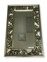 Large Faux Bamboo Framed Mirror 27 X 43 NEW Bevelled Edge - $152.39