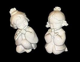 Ceramic Girl Figurines 2 Vintage AB 473 - $19.75